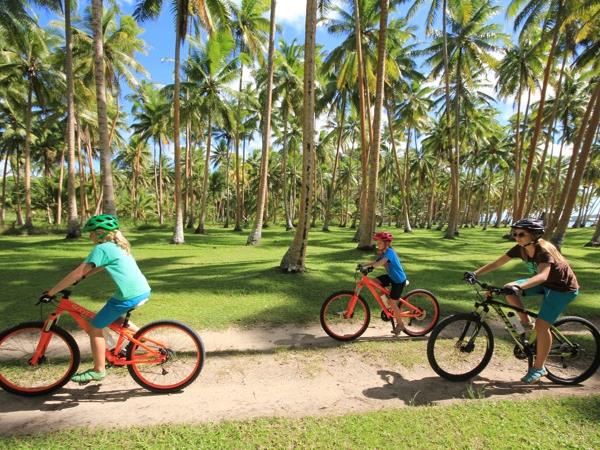 Fiji family cycling holiday
