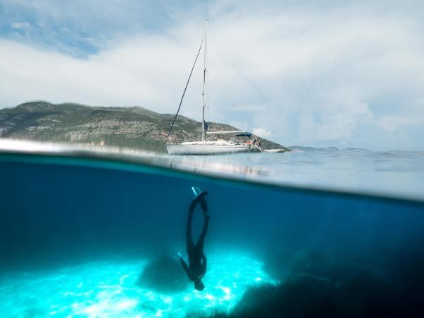 Freediving and sailing holiday in Greece