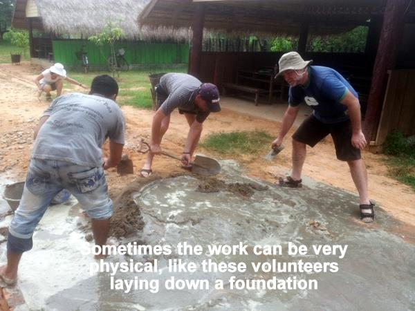 Construction volunteering in Cambodia