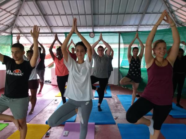 Yoga in India and volunteering holiday