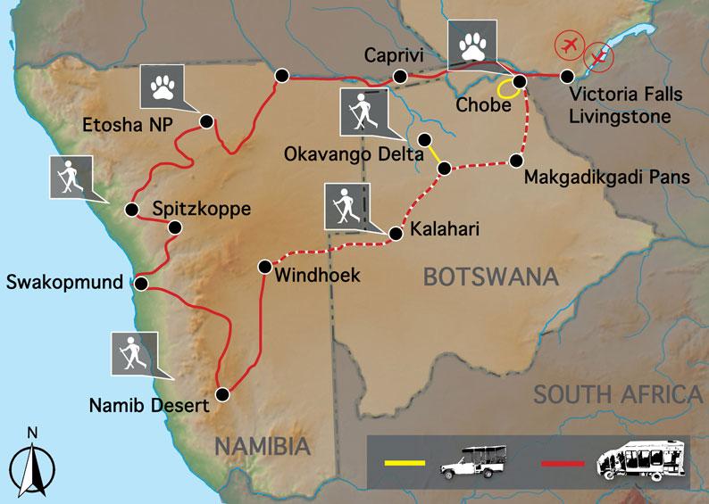 Namibia and Botswana camping safari Helping Dreamers Do