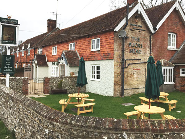 Meonstoke pub with B and B, South Downs, England
