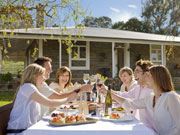 Eating at Barossa, South Australia. Photo by South Australia Tourist Board