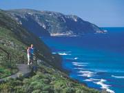 Sea view on the 'Bib track in Western Australia. Photo by Tourism Western Australia