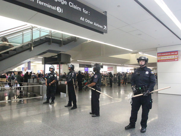 Police at US airport