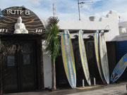 Surf shop at Caleta de Famara, Lanzarote. Photo by Nick Haslam