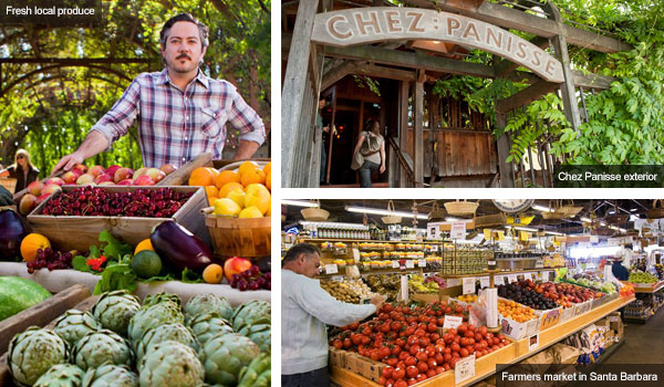 Local produce, Chez Panisse and farmers market, Santa barbara