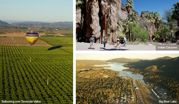 Ballooning over Temecula Valley, Indian Cayons and Big Bear Lake