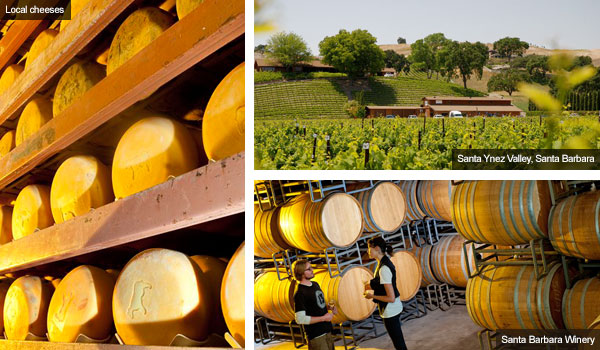 Cheeses, Santa Ynez Valley and Santa Barbara Winery