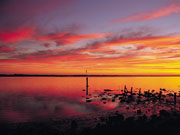 Sunset at Coorong National Park, South Australia. Photo by South Australia Tourist Board