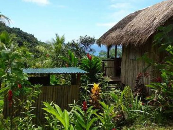 Dominica budget accommodation in a Carib Hut