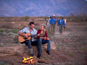 Campfire singing, South Australia. Photo by South Australia Tourist Board