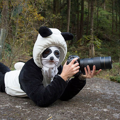 Ami in a panda suit