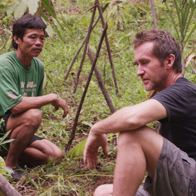 Bruce with local Penan man
