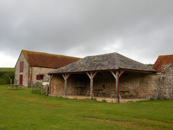 West Sussex camping barn, South Downs Way, England