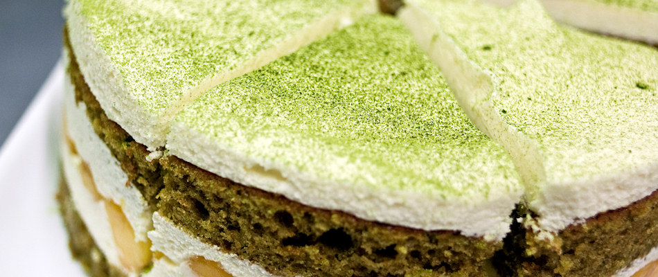 Layered Matcha green tea cake