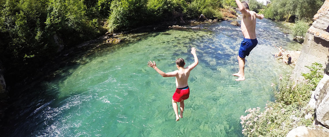 Jumping in springs