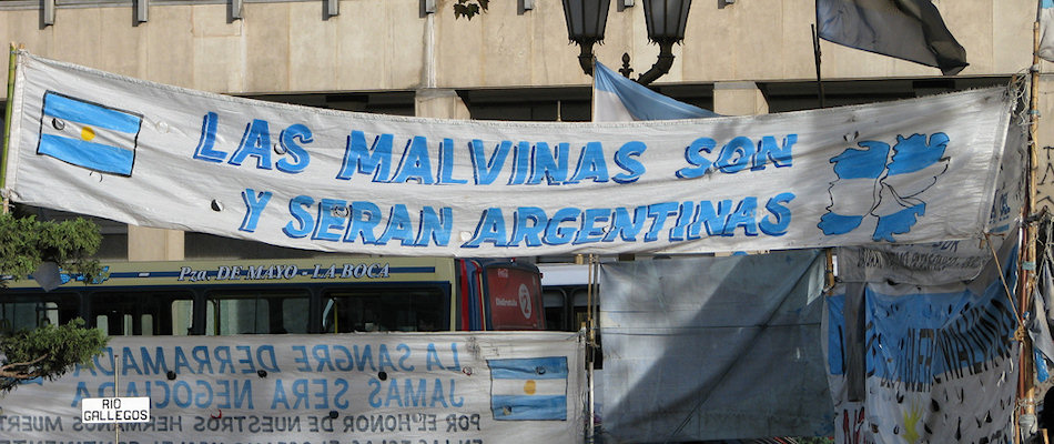Falklands protest