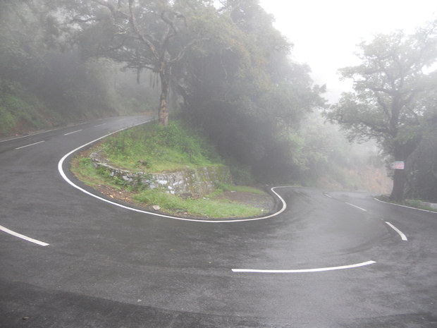 Up to Ooty hill station in the mist