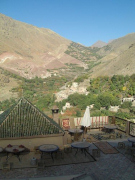 Terrace at Kasbah du Toubkal in the Atlas Mountains