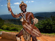 Zulu dancer, KwaZulu-Natal. Photo By Durban Tourism