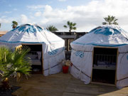 Yurts at Lanzarote Retreats. Photo by Nick Haslam