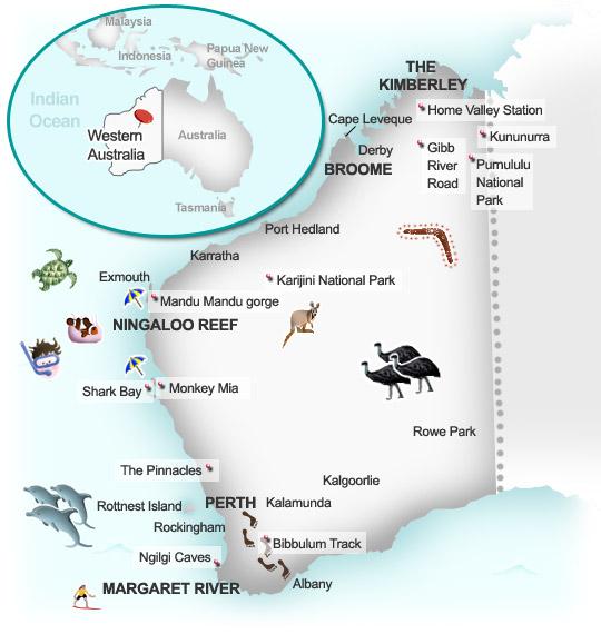 Australia Map Karratha.Western Australia History Geography Insiders Travel Guide To