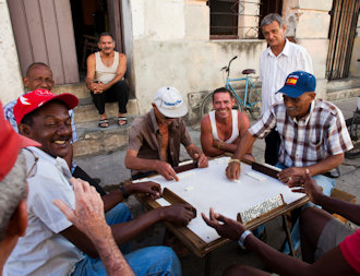 Meeting people in Cuba