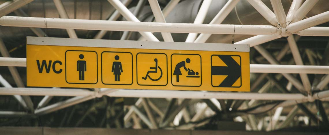 Sign to disabled toilet