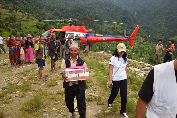 Aid in Nepal