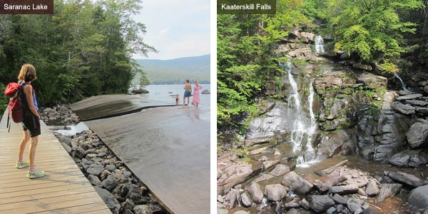 Saranac Lake and Kaaterskill falls, New York State. Photos by Catherine Mack