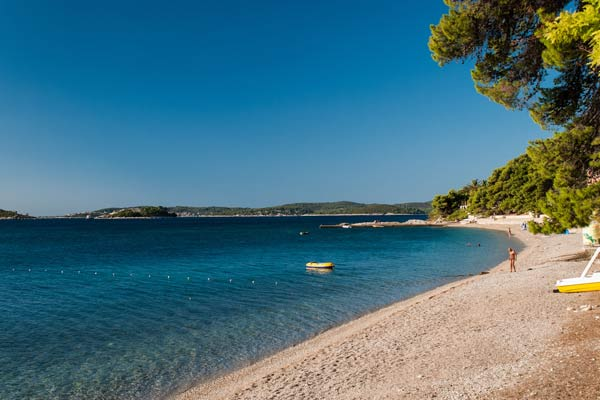 Empty beach in Croatia