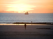 Pearl lugger and Sunset at Cable Beach Broome. Photo by Nick Haslam