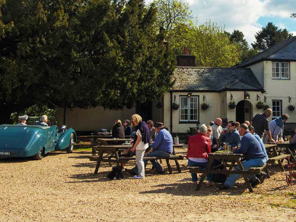 South Downs pub with campsite, England