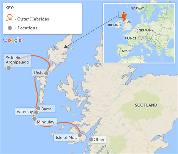 Outer Hebrides Map Cruising in the Outer Hebrides. Helping Dreamers Do