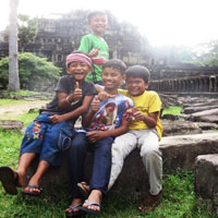 Boys at Angkor Wat