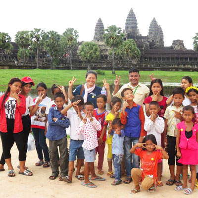 Group in at Angkor Wat