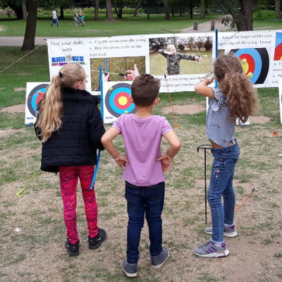 Children with archery