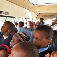 group of boys on bus