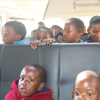 Children on the bus