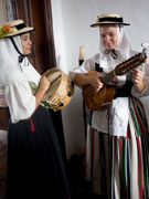 Singers in traditional costume in Teguise, Lanzarote. Photo by Nick Haslam