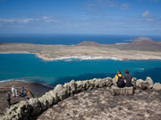 View of La Graciosa, Lanzarote. Photo by Nick Haslam