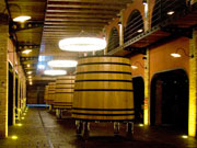 Wine barrel at STRATVS, La Geria. Photo by Nick Haslam