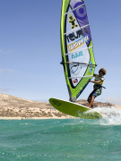 Windsurfing at Playa Sotavento, Fuerteventura. Photo by Rene Egli Windsurfing And Kitesurfing Pro Center