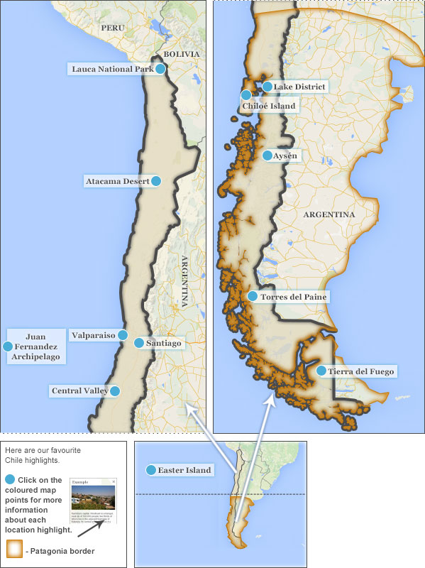 Where to go in Chile Chile highlights and best places to visit – Tourist Attractions Map In Chile