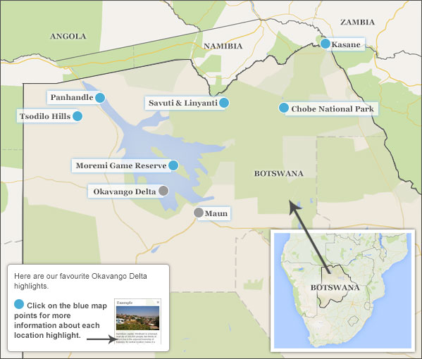 Okavango Delta travel guide – Delta Travel Map