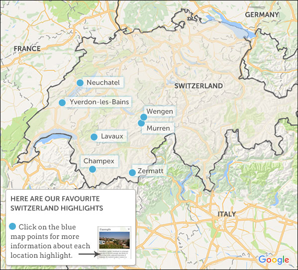 Switzerland travel guide Responsible travel guide to Switzerland – Switzerland Travel Map