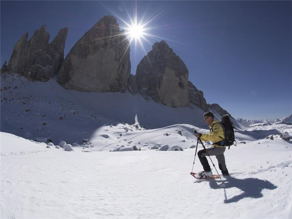 Snowshoeing holiday in the Dolomites