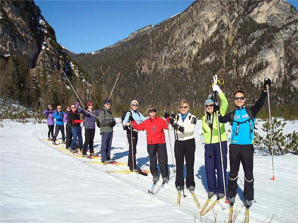 Cross country skiing holiday in the Dolomites, Italy