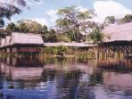 Jungle lodge in the Amazon, Peru